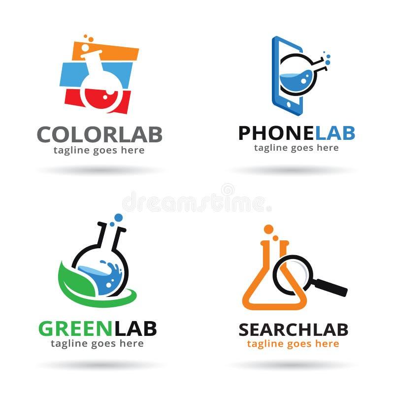 Διάνυσμα σχεδίου προτύπων λογότυπων πακέτων εργαστηρίων ελεύθερη απεικόνιση δικαιώματος