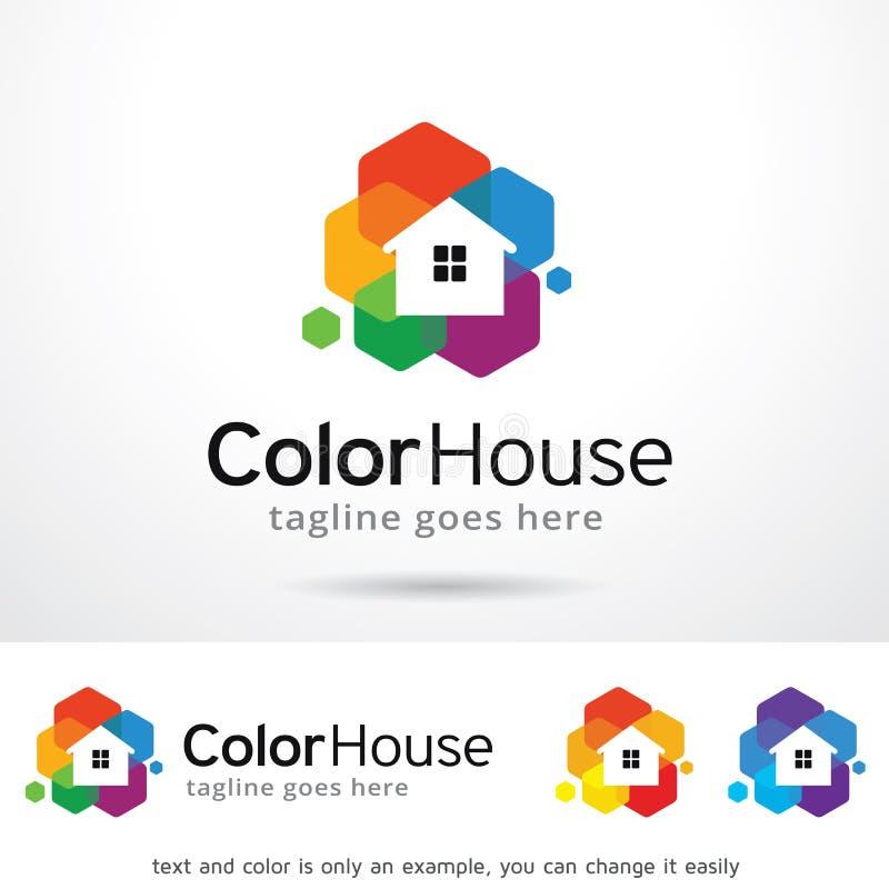 Διάνυσμα σχεδίου προτύπων λογότυπων σπιτιών χρώματος ελεύθερη απεικόνιση δικαιώματος