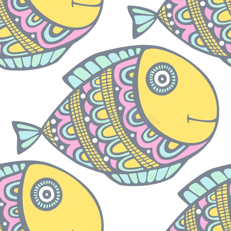 Διάνυσμα σχεδίων ψαριών διανυσματική απεικόνιση