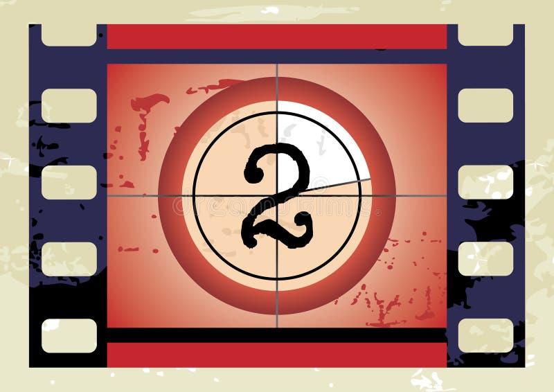 διάνυσμα ταινιών αντίστροφης μέτρησης απεικόνιση αποθεμάτων