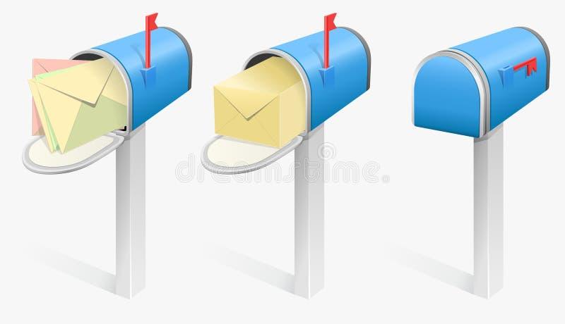 διάνυσμα ταχυδρομικών θ&upsilo απεικόνιση αποθεμάτων