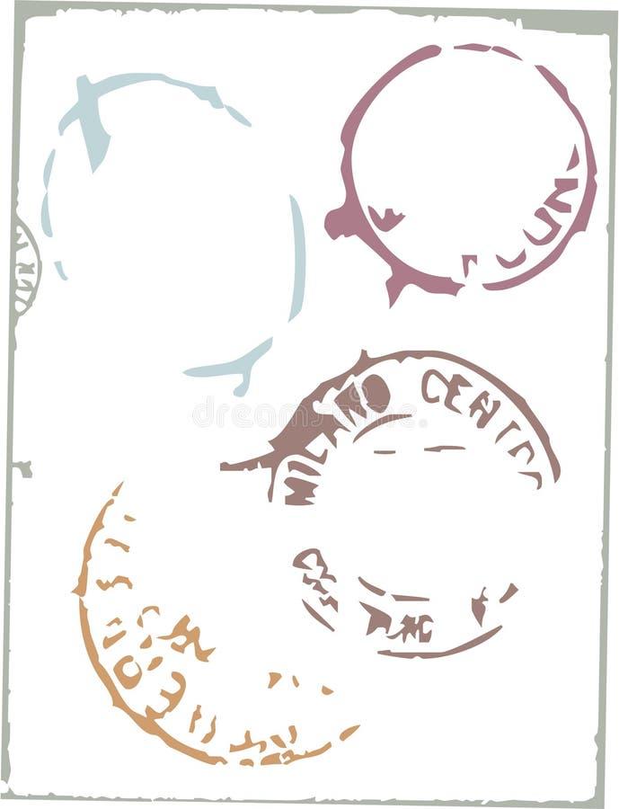 διάνυσμα ταχυδρομικών τελών στοιχείων σχεδίου απεικόνιση αποθεμάτων