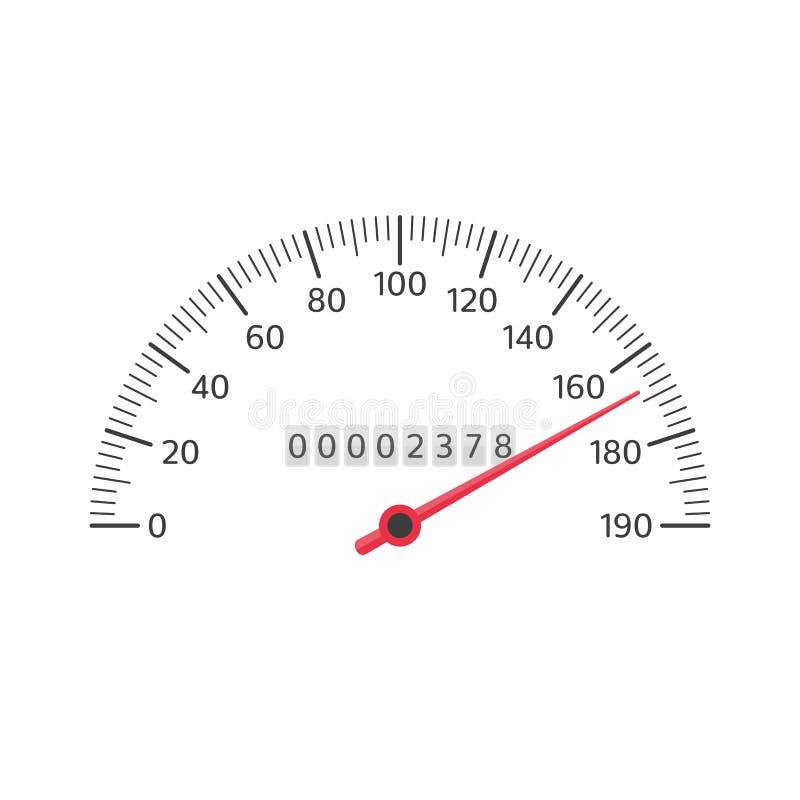 Διάνυσμα ταχυμέτρων αυτοκινήτων διανυσματική απεικόνιση