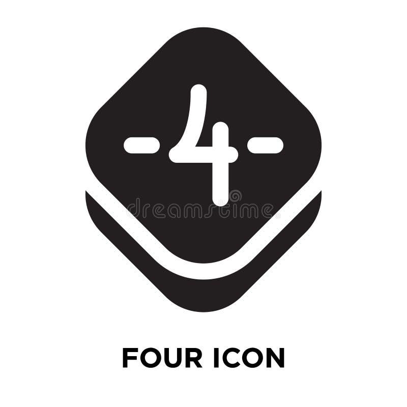 Διάνυσμα τεσσάρων εικονιδίων που απομονώνεται στο άσπρο υπόβαθρο, έννοια λογότυπων του Φ διανυσματική απεικόνιση