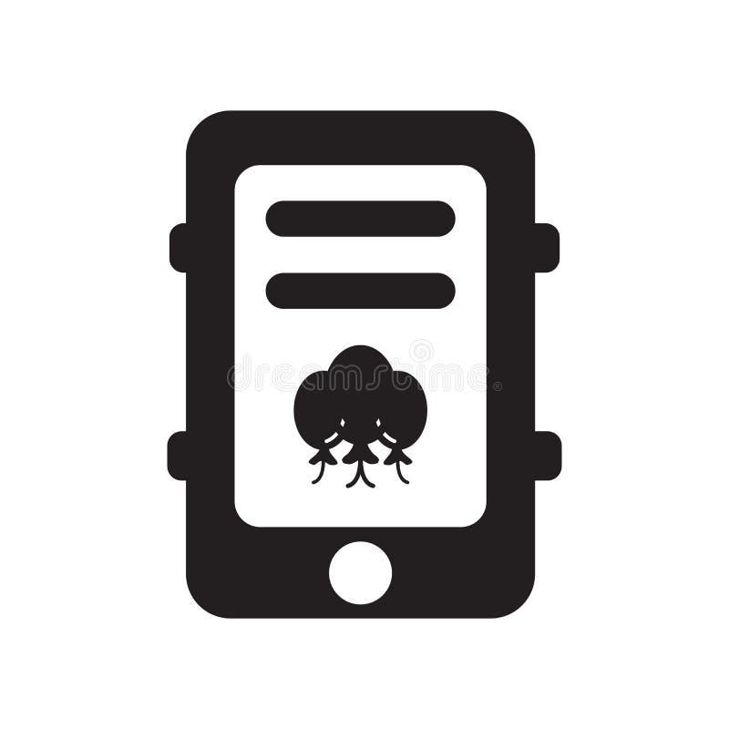 Διάνυσμα τηλεφωνικών εικονιδίων κυττάρων που απομονώνεται στο άσπρο υπόβαθρο, τηλέφωνο κυττάρων ελεύθερη απεικόνιση δικαιώματος