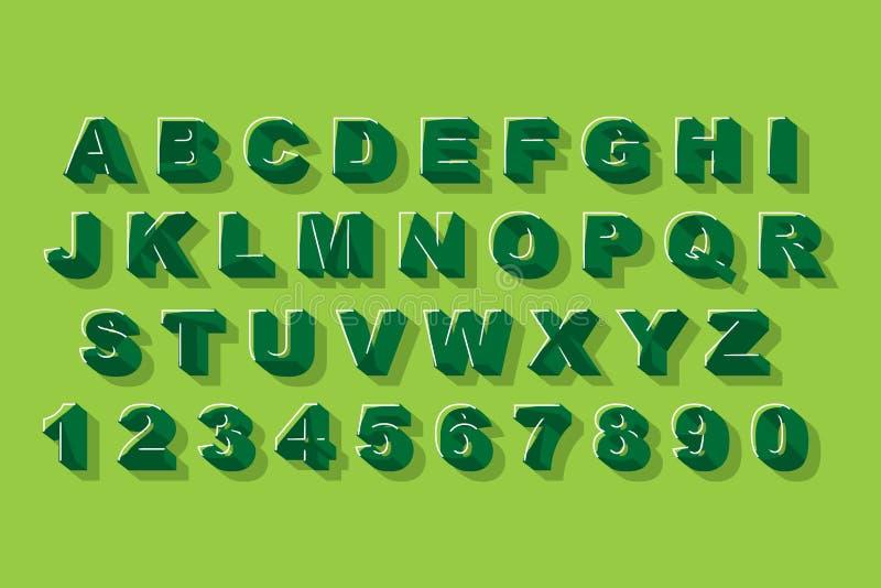 Διάνυσμα της σύγχρονης αφηρημένης πηγής αλφάβητου Γραφική αφίσα ύφους αλφάβητου διανυσματική διανυσματική απεικόνιση