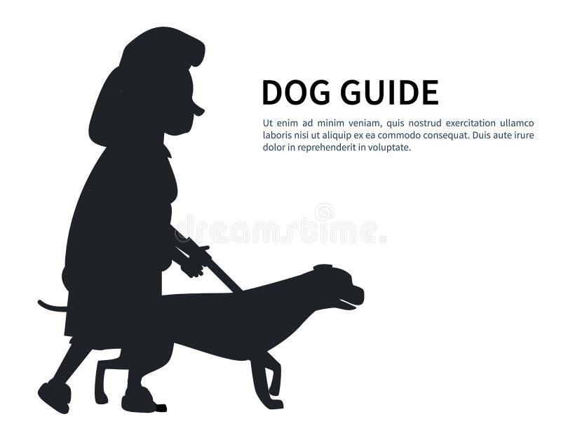 Διάνυσμα της Pet εκμετάλλευσης ηλικιωμένων γυναικών σκιαγραφιών οδηγών σκυλιών διανυσματική απεικόνιση