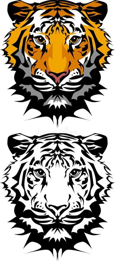 διάνυσμα τιγρών μασκότ λο&gamma διανυσματική απεικόνιση