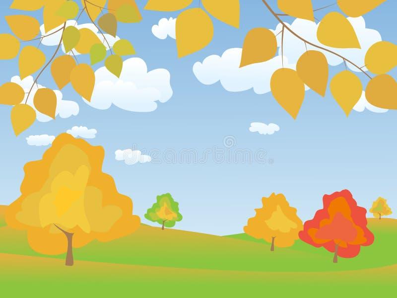 διάνυσμα τοπίων φθινοπώρο&up απεικόνιση αποθεμάτων