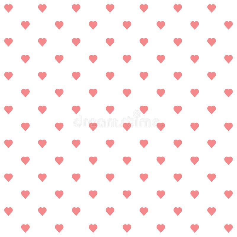 Διάνυσμα του άνευ ραφής σχεδίου των καρδιών ελεύθερη απεικόνιση δικαιώματος
