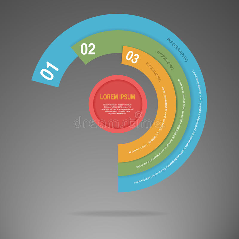 Διάνυσμα του γραφικού σχεδιαγράμματος ύφους κύκλων επιχειρησιακών πληροφοριών ελεύθερη απεικόνιση δικαιώματος