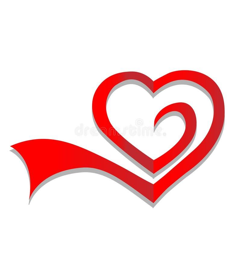 Διάνυσμα του λογότυπου καρδιών διανυσματική απεικόνιση