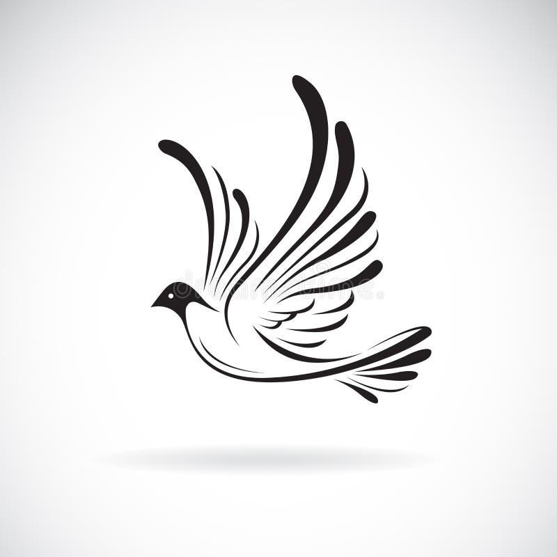 Διάνυσμα του σχεδίου birdsDove σε ένα άσπρο υπόβαθρο, r Λογότυπο ή εικονίδιο πουλιών Εύκολη editable βαλμένη σε στρώσεις διανυσμα διανυσματική απεικόνιση