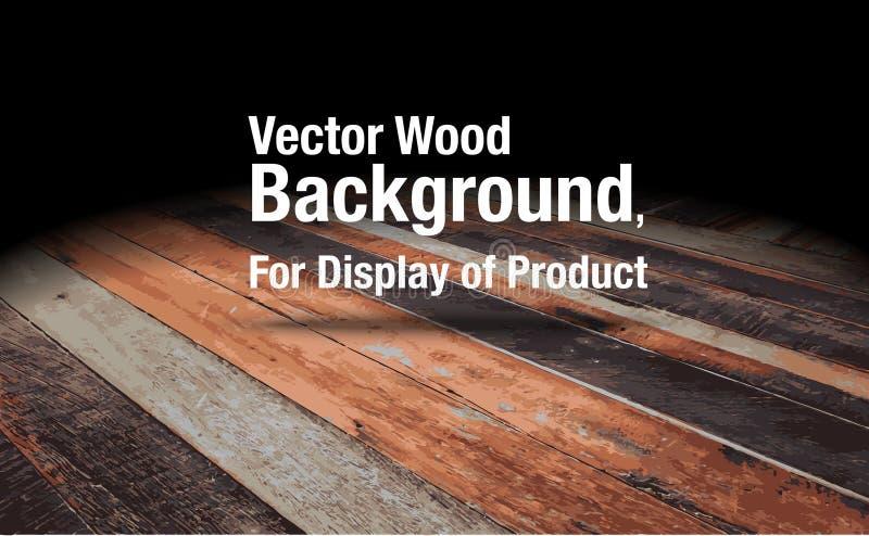 Διάνυσμα: Το ξύλινο υπόβαθρο πατωμάτων σανίδων, χλευάζει επάνω για την επίδειξη του π ελεύθερη απεικόνιση δικαιώματος