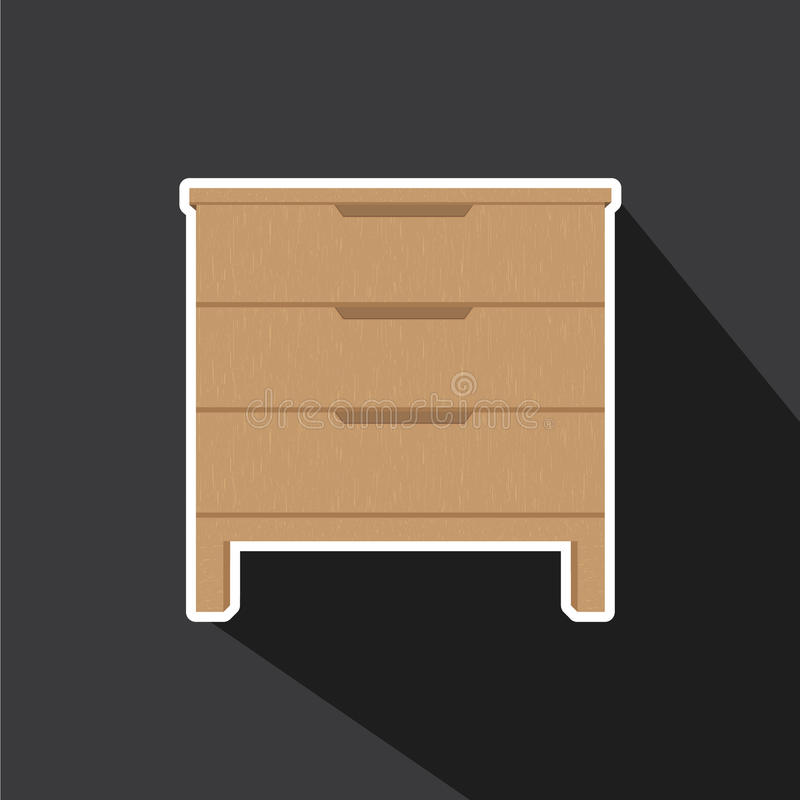 Διάνυσμα των συρταριών απεικόνιση αποθεμάτων