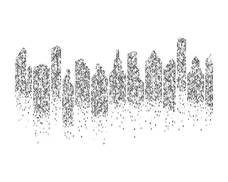 διάνυσμα υποβάθρου οριζόντων πόλεων διανυσματική απεικόνιση