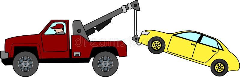 Διάνυσμα - φορτηγό ρυμούλκησης διανυσματική απεικόνιση