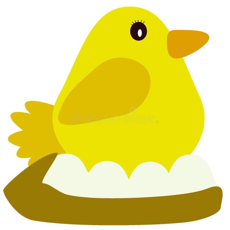 διάνυσμα φωλιών κοτόπουλ στοκ εικόνες