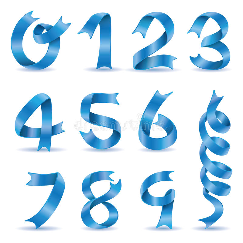Διάνυσμα χαρακτήρα αριθμού κορδελλών απεικόνιση αποθεμάτων