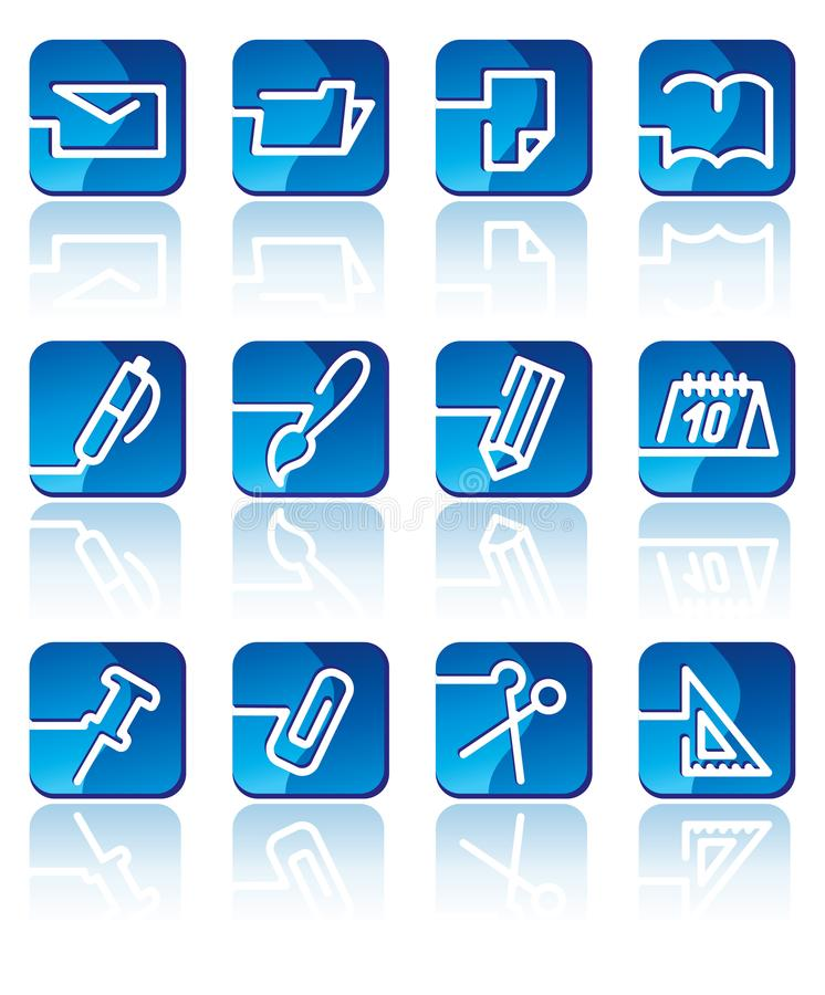 διάνυσμα χαρτικών γραφείων απεικόνισης εικονιδίων ελεύθερη απεικόνιση δικαιώματος