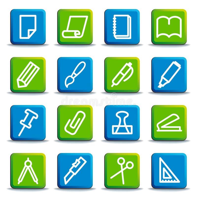 διάνυσμα χαρτικών γραφείων απεικόνισης εικονιδίων απεικόνιση αποθεμάτων
