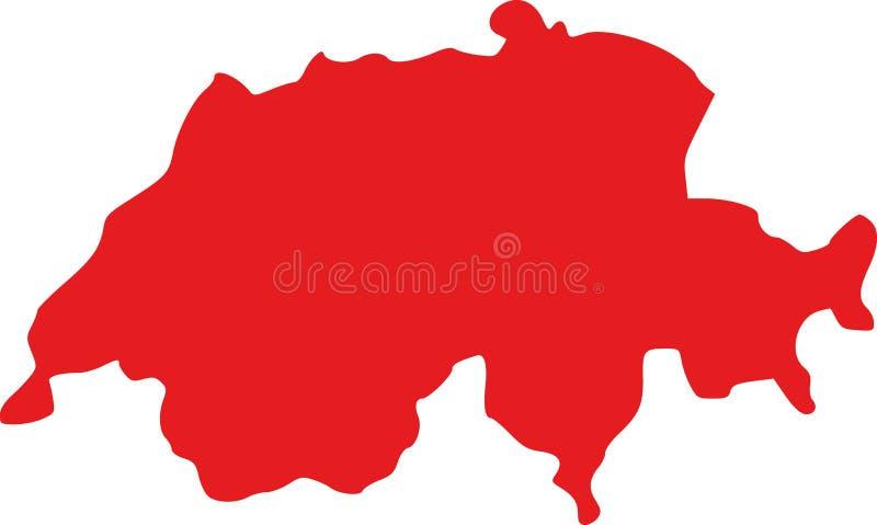 Διάνυσμα χαρτών της Ελβετίας ελεύθερη απεικόνιση δικαιώματος