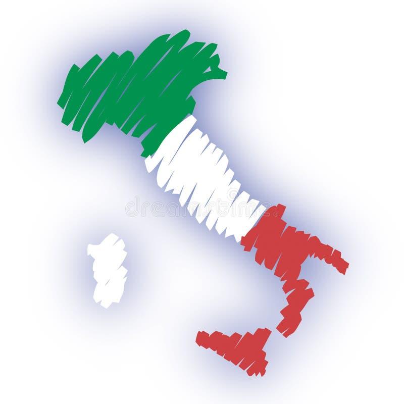διάνυσμα χαρτών της Ιταλία&si ελεύθερη απεικόνιση δικαιώματος