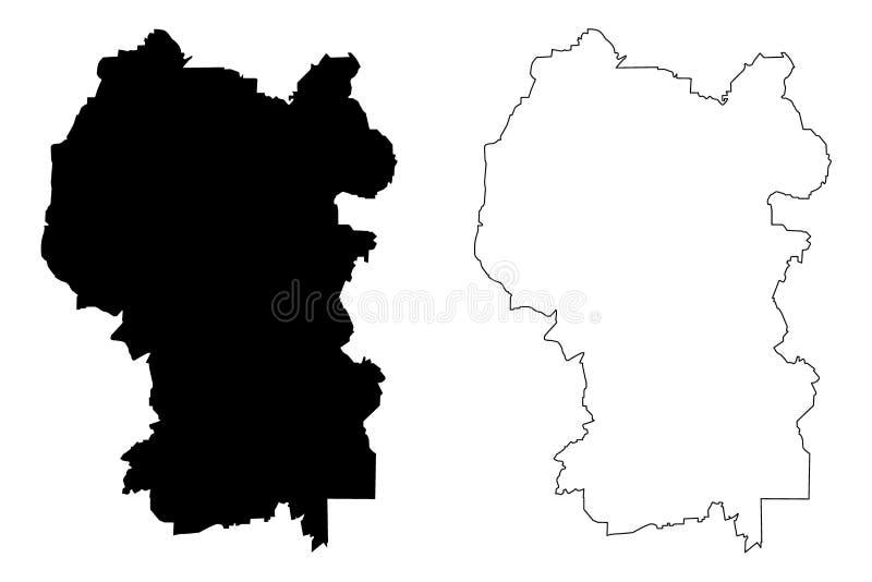Διάνυσμα χαρτών της Κουάλα Λουμπούρ απεικόνιση αποθεμάτων