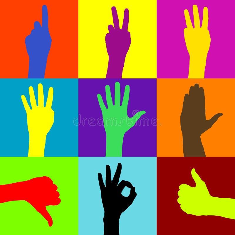 διάνυσμα χεριών ελεύθερη απεικόνιση δικαιώματος