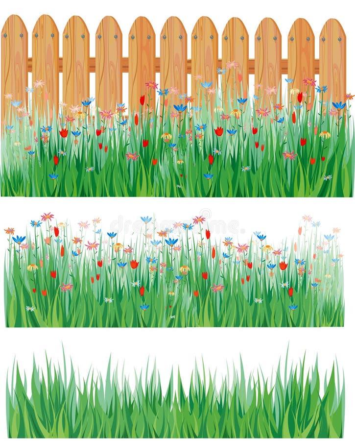 διάνυσμα χλόης λουλου&del ελεύθερη απεικόνιση δικαιώματος