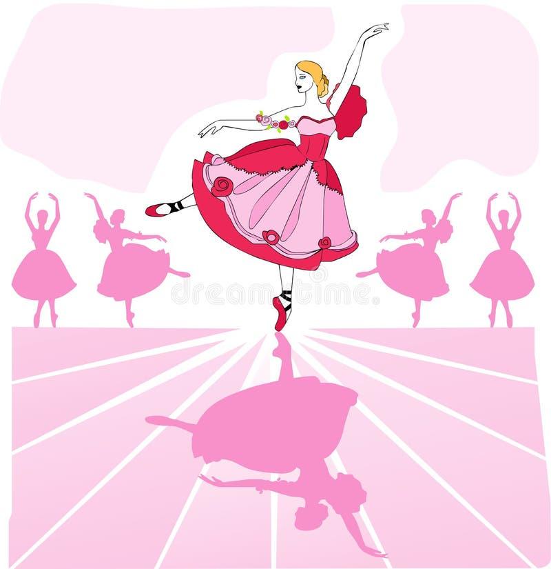 διάνυσμα χορευτών μπαλέτ&omicro ελεύθερη απεικόνιση δικαιώματος