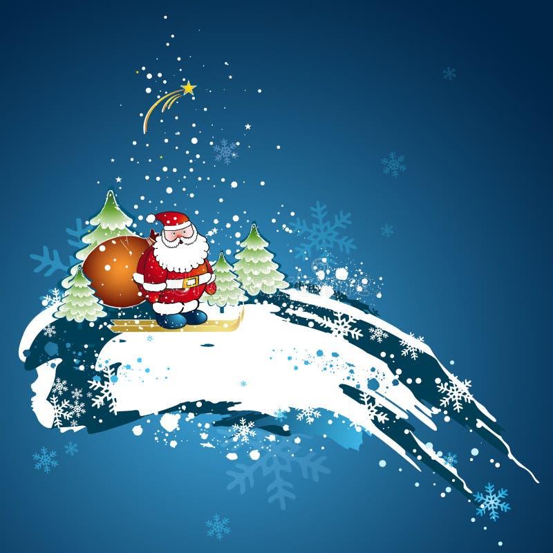 διάνυσμα Χριστουγέννων καρτών διανυσματική απεικόνιση
