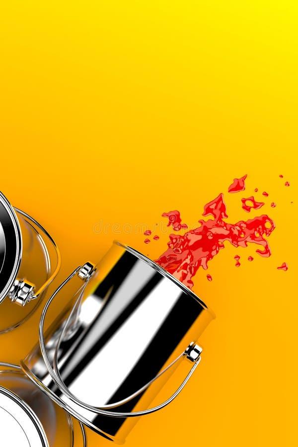 διάνυσμα χρωμάτων απεικόνισης δοχείων διανυσματική απεικόνιση