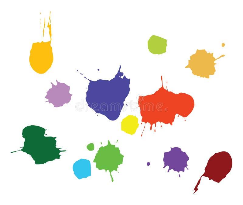 διάνυσμα χρωμάτων splat ελεύθερη απεικόνιση δικαιώματος