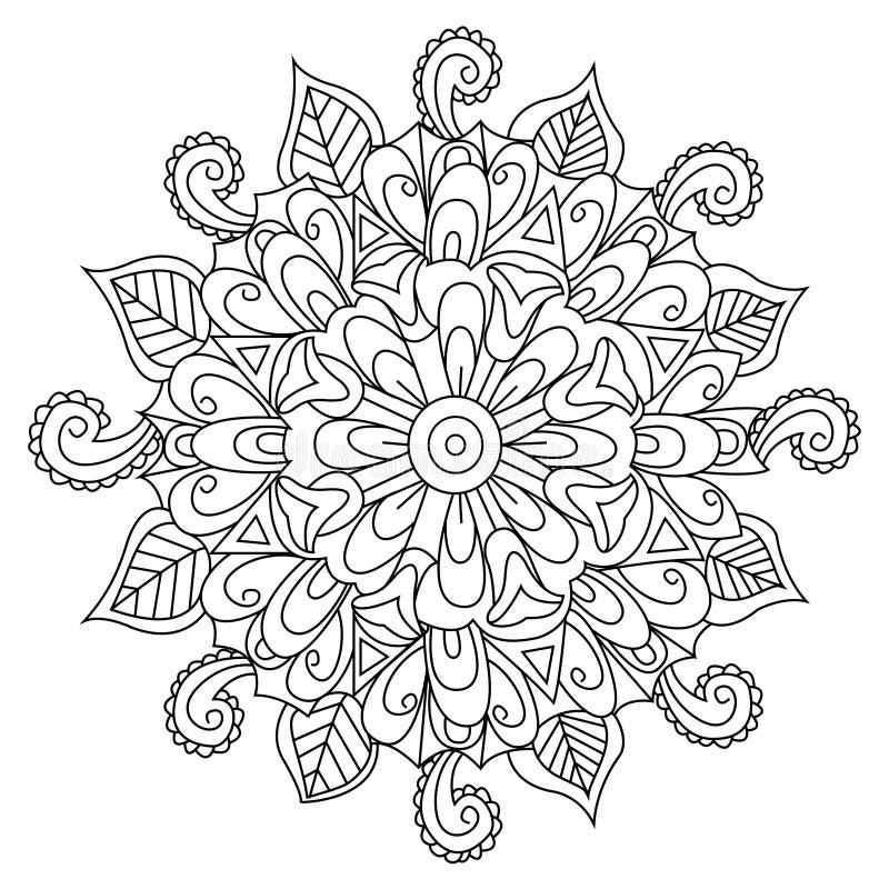 Διάνυσμα χρωματισμού λουλουδιών Mandala για τους ενηλίκους απεικόνιση αποθεμάτων