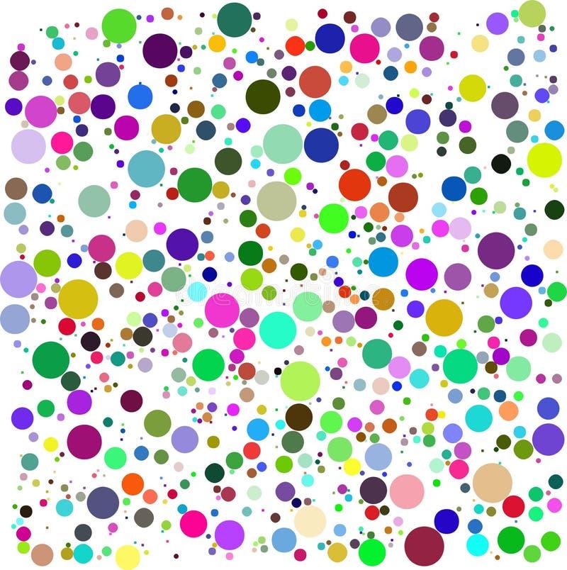 διάνυσμα χρώματος φυσαλίδων ελεύθερη απεικόνιση δικαιώματος