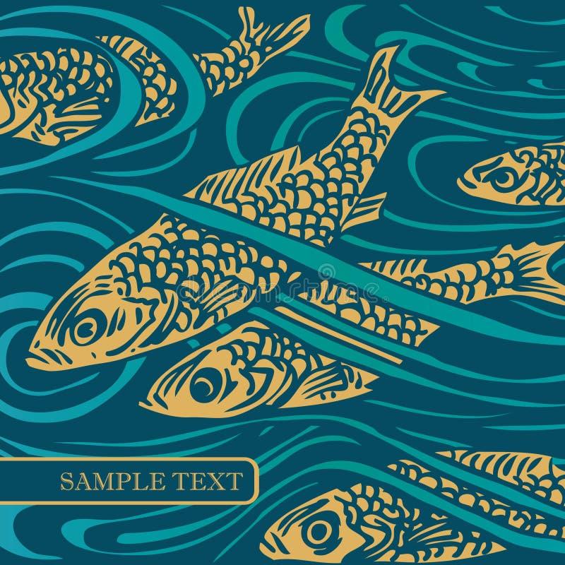 διάνυσμα ψαριών ανασκόπηση& διανυσματική απεικόνιση