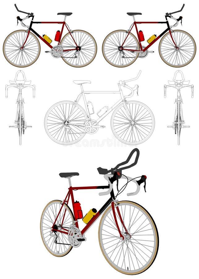 Διάνυσμα 04 ποδηλάτων διανυσματική απεικόνιση