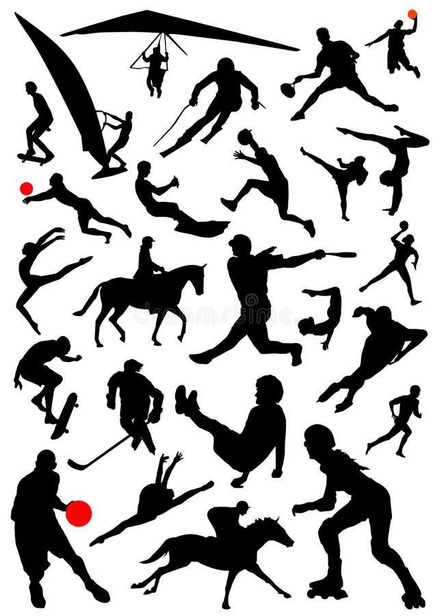 διάνυσμα 2 αθλητισμού συλλογής ελεύθερη απεικόνιση δικαιώματος