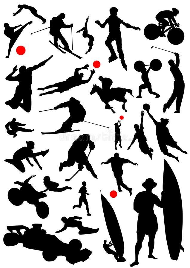 διάνυσμα 3 αθλητισμού συλλογής απεικόνιση αποθεμάτων