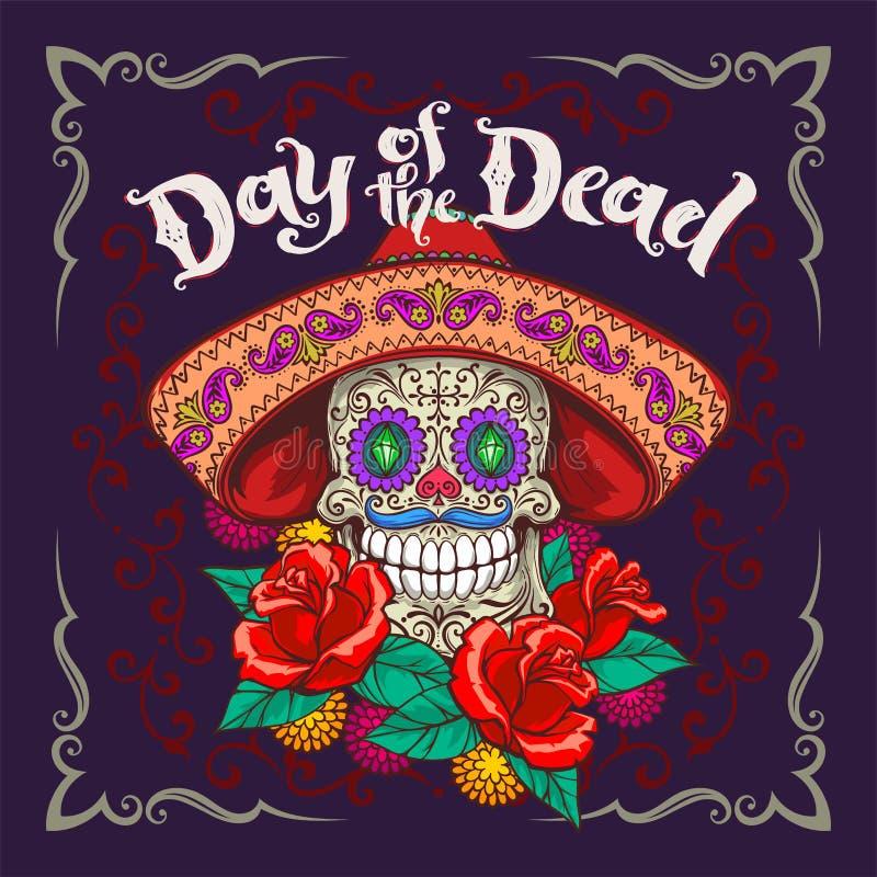 Διάνυσμα de Los muertos Dia ελεύθερη απεικόνιση δικαιώματος