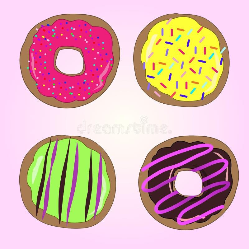 Διάνυσμα donuts στοκ εικόνες