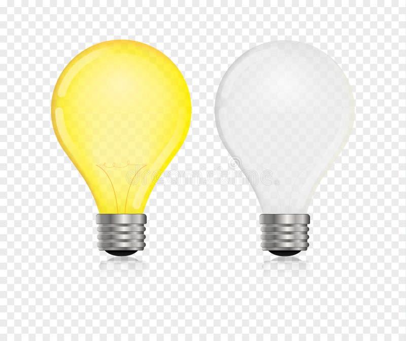 Διάνυσμα Lightbulb ρεαλιστικό ελεύθερη απεικόνιση δικαιώματος