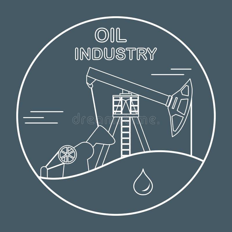 Διάνυσμα Pumpjack εξοπλισμού βιομηχανίας πετρελαίου ελεύθερη απεικόνιση δικαιώματος