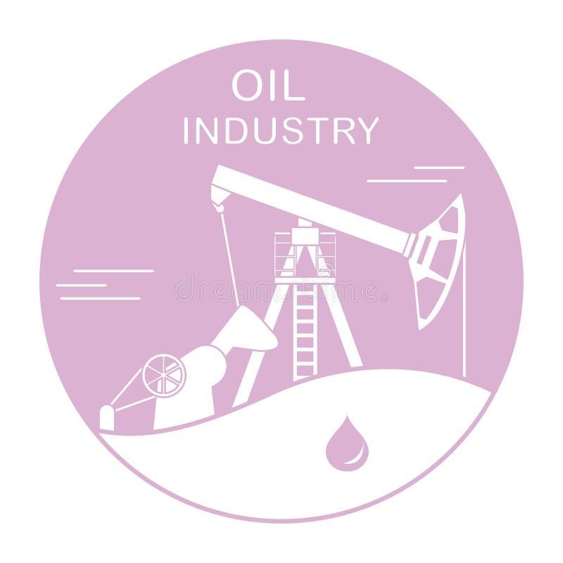 Διάνυσμα Pumpjack εξοπλισμού βιομηχανίας πετρελαίου απεικόνιση αποθεμάτων