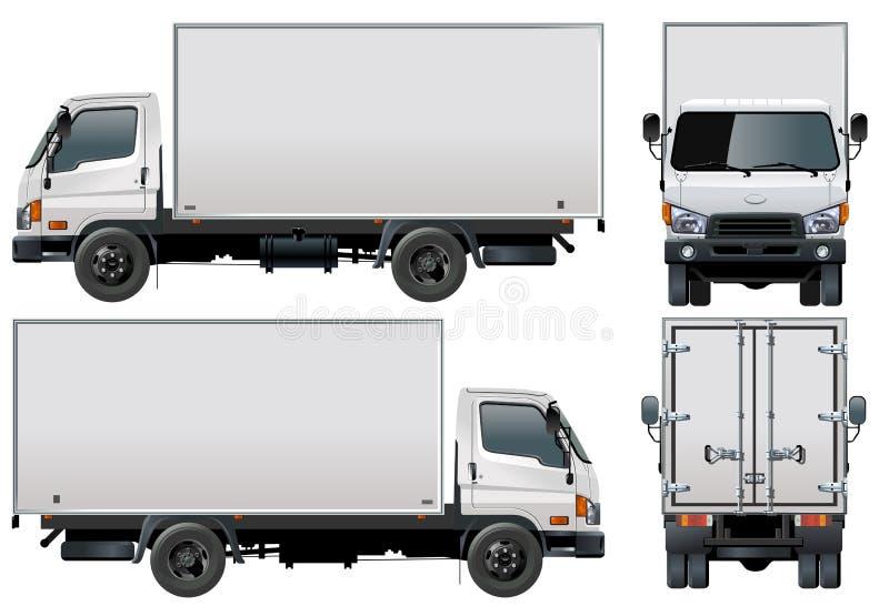 διάνυσμα truck παράδοσης φορτ διανυσματική απεικόνιση