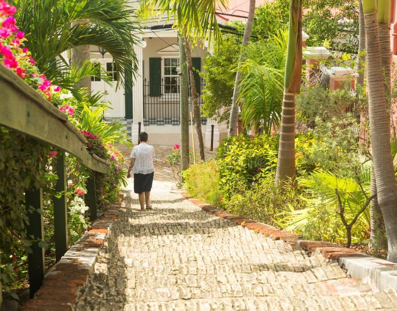 Διάσημα 99 βήματα Σαρλόττα Amalie στοκ φωτογραφία