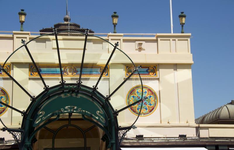 Διάσημη αρχιτεκτονική Μόντε Κάρλο καφέδων εισόδων στοκ φωτογραφία