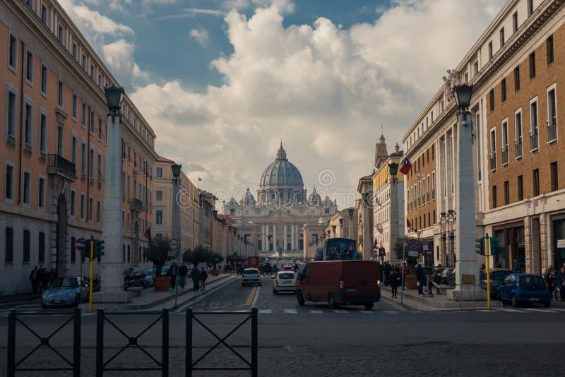 Διάσημη βασιλική του ST Peters στοκ εικόνες με δικαίωμα ελεύθερης χρήσης