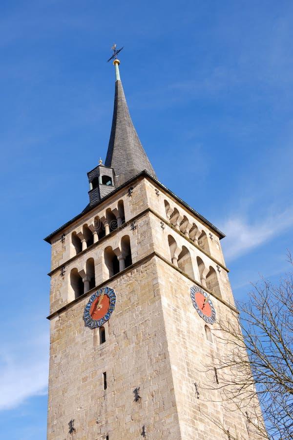 Διάσημη εκκλησία Μαρτινφούτσε στο Sindelfingen γερμανία στοκ εικόνα